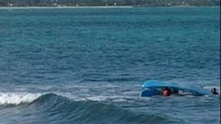 preview picture of video 'KAYAK collision off Kailua's  Bird Island, New Year's Eve, 2010'