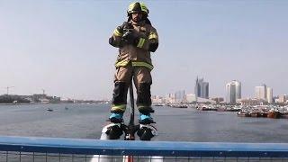 Dubai firefighters use jetpacks to aid high-speed response