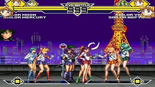 Sailor Moon Party 4v4 Patch MUGEN 1.0 Battle!!!