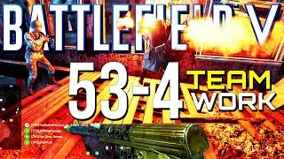 Battlefield 5: 53-4 with Sick Teamwork! (PS4 Pro Multiplayer Gameplay)