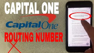 ✅  Capital One Bank ABA Routing Number - Where Is It? 🔴