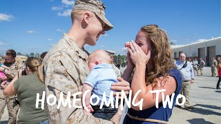 Marine Meets Son at Military Homecoming