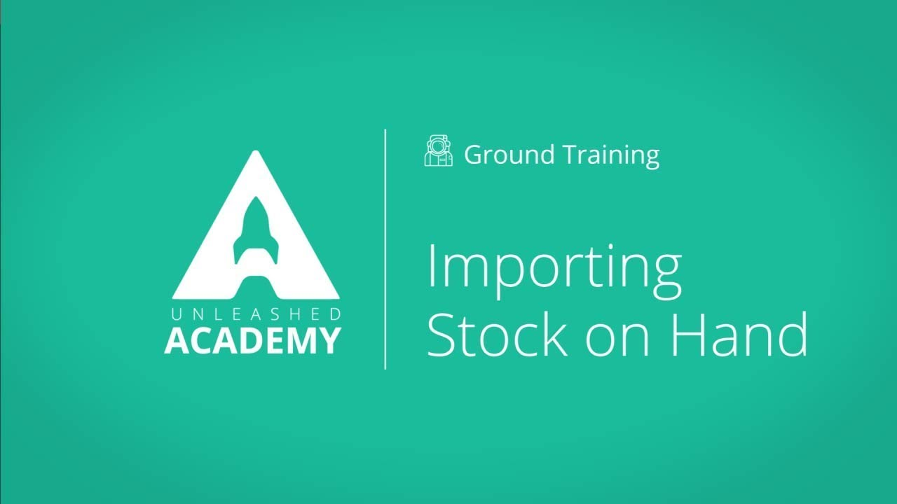Importing Stock on Hand YouTube thumbnail image