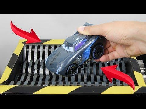 Experiment Shredding Disney Cars 3 Jackson Storm And Toys | The Crusher