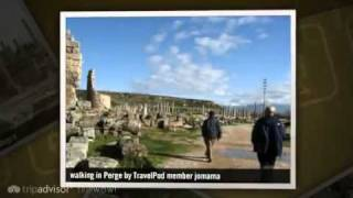 preview picture of video 'Perge - Antalya, Turkish Mediterranean Coast, Turkey'