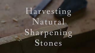 Harvesting Natural Sharpening Stones