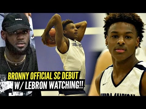 Bronny James OFFICIAL Sierra Canyon Debut w/ LEBRON WATCHING!! Bronny & Ziaire GO OFF!!