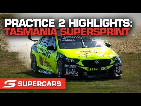 SUPERCARS 2021 タスマニアSuperSprint プラクティス2のハイライト動画