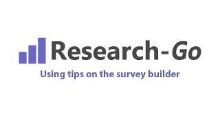 Using tips in the survey builder