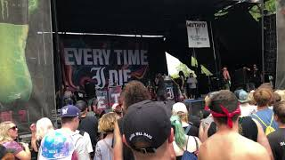 "Every Time I Die - ""We'rewolf"" Live @ Vans Warped Tour on 7-23-2018"