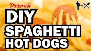 DIY Spaghetti Hot Dogs - Man Vs Din #1