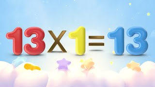 13 Times Table | Learn 13 Times Multiplication | Mathematic Videos for Kids