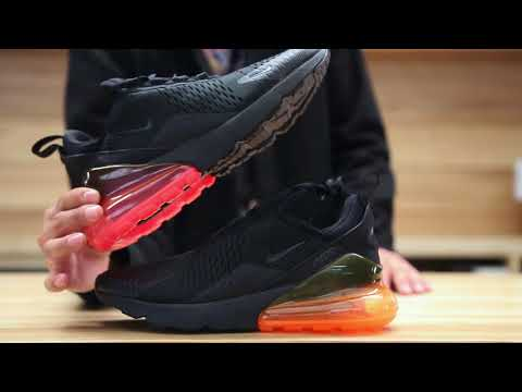 bb344f02a0c Nike air max 270 total orange hot punch unboxing on feet video at exclucity