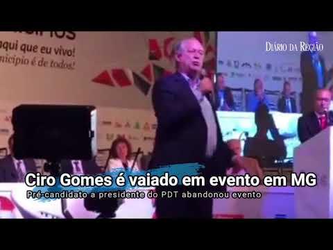 Ciro Gomes abandona evento em Minas Gerais