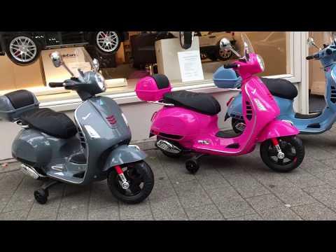 Vespa kinderscooter GTS elektrisch Ridecars Rotterdam