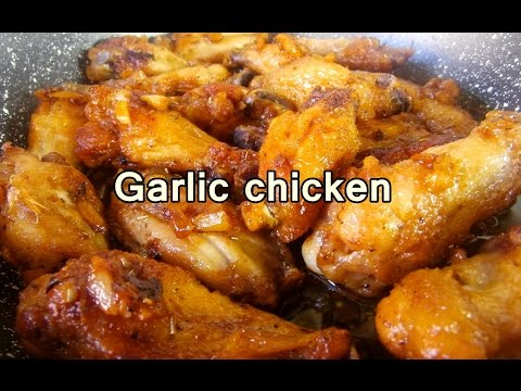 TASTY GARLIC CHICKEN WINGS – easy food recipes for dinner to make at home