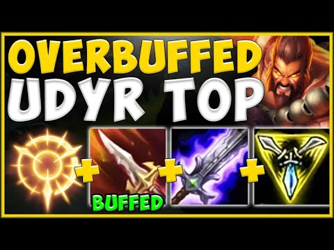 WTF! RIOT 100% BROKE TOP LANE WITH NEW OVERBUFFED UDYR BUILD! UDYR TOP GAMEPLAY! - League of Legends