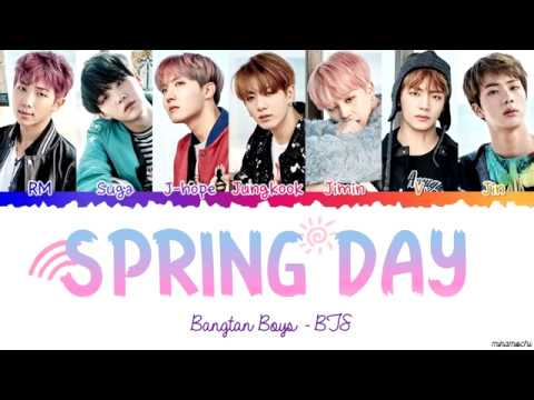 BTS (방탄소년단) 'Spring Day' (봄날) 🌸 Lyrics [Color Coded Han_Rom_Eng]