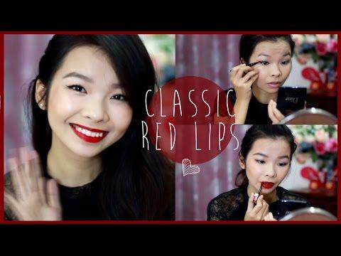 Makeup Son Đỏ Cổ Điển - Classic Red Lips