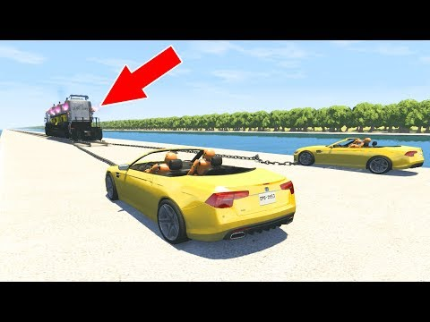BeamNG Drive - CRAZY TRAIN CARS TOWING