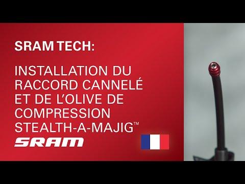 Installation du raccord cannelé et de l'olive de compression Stealth-a-majig™