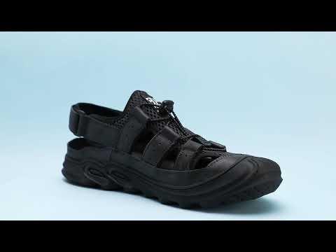 Leather Gradient Mesh Hiking Mesh Sandals XFJQLJ9921