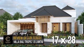 Video Desain Rumah Villa Bali 1.5 Lantai Bapak Baihaqi di  Aceh