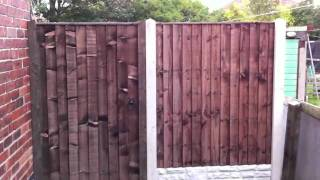 Garden Gate & Infill Fence (Concrete Fence Posts, Gravel Boa