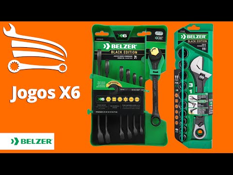 Jogo de Chaves Combinadas Speedy X6 Black Edition - Video