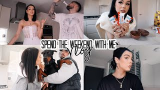 SPEND THE WEEKEND WITH ME | DYING MY HAIR, HOME STUFF, DATE NIGHT & MAKING TIK TOK FOOD...
