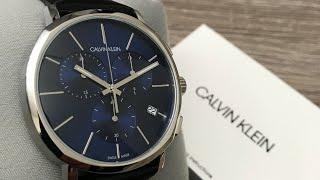 Calvin Klein Chronograph Quartz Blue Dial Mens Watch K8Q371CN Review (Unboxing)
