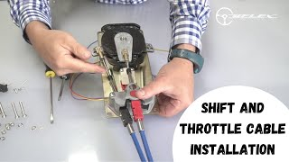 Shift and Throttle Cable installation on Uflex Control