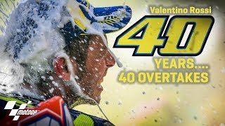 40 overtakes for Rossi's 40 birthday