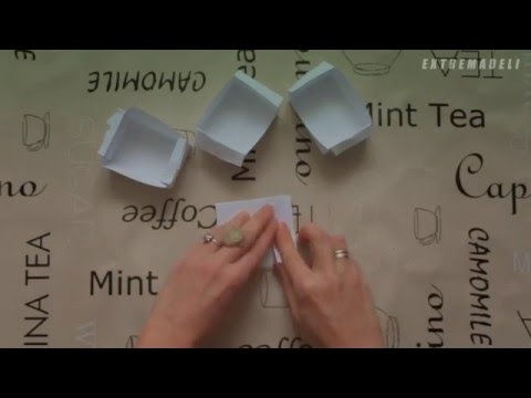 Como hacer moldes de magdalenas con un folio