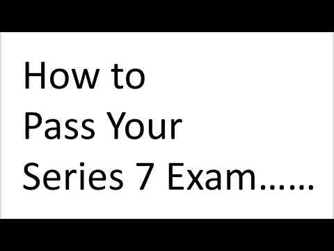 Series 7 Exam FINRA Content Outline - Introduction and Explication