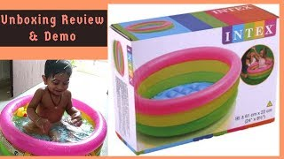 Unboxing Review & Demo of Intex Bath Pool | Honest Review | How to fill air or blow Intex Bathtub ||