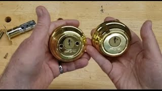 Replace a Broken Deadbolt Lock and Keep Using the Original Key