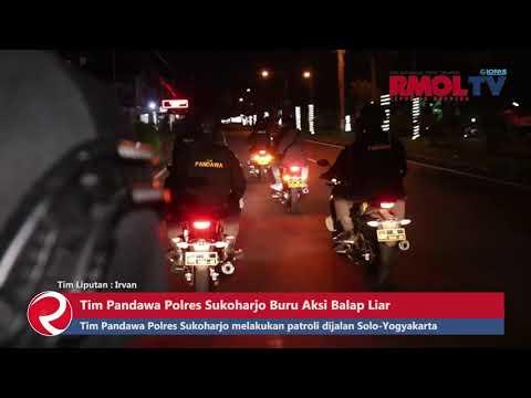 Tim Pandawa Polres Sukoharjo Buru Aksi Balap Liar
