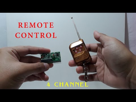 Remote Control 4 Channel Receiver Kits Arduino 2262 2272