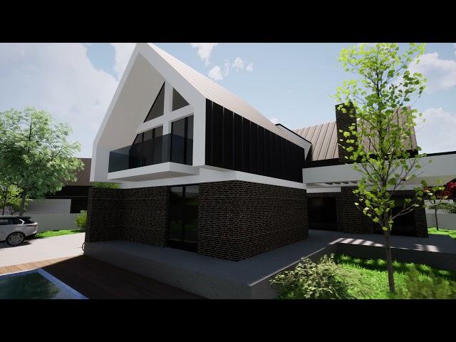 Архитектурная визуализация BLACK & WHITE cottege village