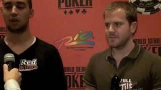 Ramzi Jelassi Och Micke Tureniec Från WSOP 2009 Poker.se TV