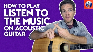 How to Play Listen to the Music on Acoustic Guitar - Doobie Brothers Song Lesson
