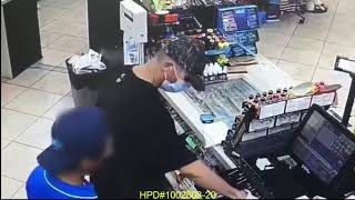 Aggravated robbery at the Chevron located at 6625 Pinemont. Houston PD #1002808-20