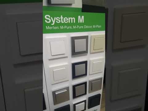 Merten System m розетки и выключатели