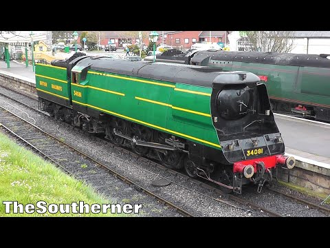 Five Bulleids on the Swanage Railway 29th March 2017