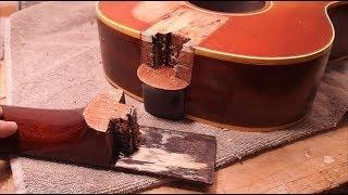 Guitar Repair :  A Nightmare Neck Re-set!