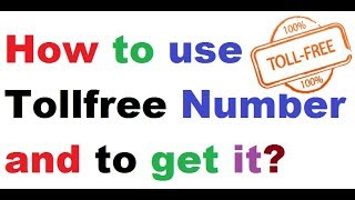 What Is a Toll-Free Number and How to use live Practical in Hindi