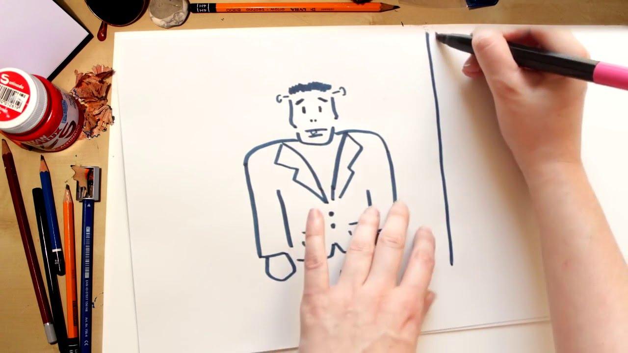 Como dibujar Frankenstein - dibujos de halloween para niños