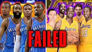 10 NBA Superteams That FAILED Miserably
