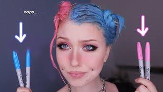 Split Hair Dye With SHARPIES